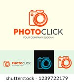 photoclick logo is suitable for ... | Shutterstock .eps vector #1239722179