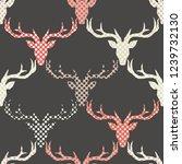 polygonal vector deer head.... | Shutterstock .eps vector #1239732130