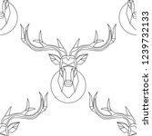 polygonal vector deer head.... | Shutterstock .eps vector #1239732133