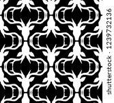 polygonal vector deer head.... | Shutterstock .eps vector #1239732136