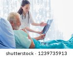 the doctor is diagnosing the... | Shutterstock . vector #1239735913