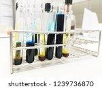 laboratory equipment chemists... | Shutterstock . vector #1239736870