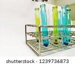 laboratory equipment chemists... | Shutterstock . vector #1239736873
