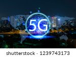 5g network wireless systems and ... | Shutterstock . vector #1239743173