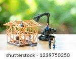 miniature people construction...   Shutterstock . vector #1239750250