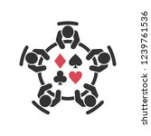 playing poker icon. group of... | Shutterstock .eps vector #1239761536