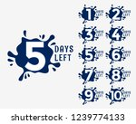 number of days left in ink drop ... | Shutterstock .eps vector #1239774133