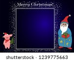 christmas illustration with... | Shutterstock .eps vector #1239775663