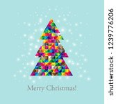 merry christmas card with... | Shutterstock .eps vector #1239776206