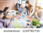 business people meeting at... | Shutterstock . vector #1239782710