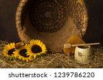 vintage old beehive basket... | Shutterstock . vector #1239786220