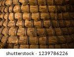 closeup of the wicker material... | Shutterstock . vector #1239786226