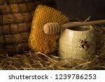 vintage old beehive basket... | Shutterstock . vector #1239786253