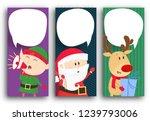 poster design with deer  santa... | Shutterstock .eps vector #1239793006