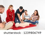 group of people with instructor ... | Shutterstock . vector #1239806749