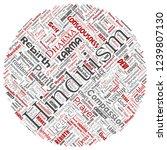 vector conceptual hinduism ... | Shutterstock .eps vector #1239807130