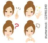 women expression   Shutterstock . vector #123981340