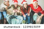 group of happy friends having...   Shutterstock . vector #1239815059