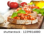 bruschetta  on slices of... | Shutterstock . vector #1239816880