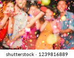 blurred people making party... | Shutterstock . vector #1239816889