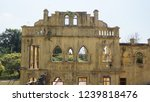 windows of abandoned castle in... | Shutterstock . vector #1239818476