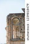 windows of abandoned castle in... | Shutterstock . vector #1239818479