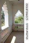windows of abandoned castle in... | Shutterstock . vector #1239818500
