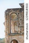 windows of abandoned castle in... | Shutterstock . vector #1239818503