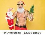 fashion tattoo santa claus... | Shutterstock . vector #1239818599
