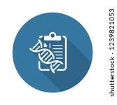dna testing flat icon design.... | Shutterstock .eps vector #1239821053