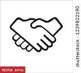 business handshake icon in... | Shutterstock .eps vector #1239822190