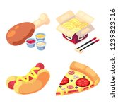 game icons set food for higher... | Shutterstock .eps vector #1239823516