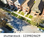 Aerial View Local Street In...