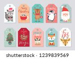 christmas gift tags set with... | Shutterstock .eps vector #1239839569