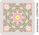 decorative colorful ornament on ... | Shutterstock .eps vector #1239847186