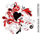 valentine's day . | Shutterstock .eps vector #123985783