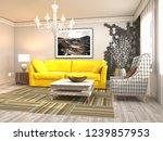 interior of the living room. 3d ... | Shutterstock . vector #1239857953