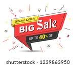 banner  sale banner template in ... | Shutterstock .eps vector #1239863950