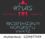 atlas. futuristic font....   Shutterstock .eps vector #1239877459