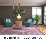 interior with chair. 3d... | Shutterstock . vector #1239885430