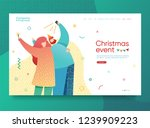 design winter holidays landing... | Shutterstock .eps vector #1239909223