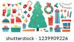 set design merry christmas... | Shutterstock .eps vector #1239909226
