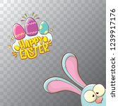 happy easter bunny with... | Shutterstock .eps vector #1239917176