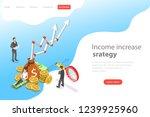 isometric flat vector landing... | Shutterstock .eps vector #1239925960