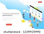 isometric flat vector landing... | Shutterstock .eps vector #1239925990