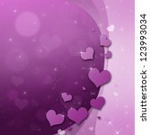 valentines day card with hearts ... | Shutterstock . vector #123993034