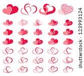 Set Of Symbols Double Heart....