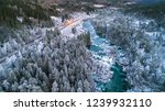 mountain river in winter.... | Shutterstock . vector #1239932110