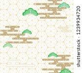 geometric pattern in japanese... | Shutterstock .eps vector #1239934720