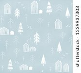 illustration. seamless pattern... | Shutterstock . vector #1239937303